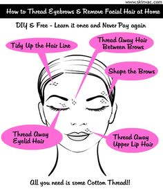 DIY Eyebrow Threading, remove unwanted facial hair without chemicals.