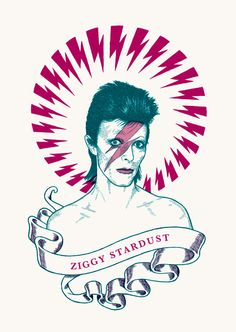 David Bowie - Ben Lamb   Illustration & Design - I loved Ziggy when I was lil and now love David.