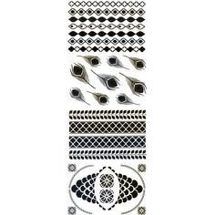 Flash Tattoos Sofia Temporary Tattoos ($22) ❤ liked on Polyvore featuring accessories, body art and metal