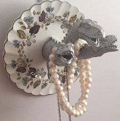 Your place to buy and sell all things handmade Godzilla, Jewelry Holder, Fine China, Decoration, Party Time, Tea Party, Craft Projects, Triangle, Im Not Perfect