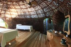 Spa treatment room at Six Senses Laamu Resort, Maldives