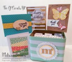 Stampin' Up! Tin of Cards Project Kit by Melissa Davies @rubberfunatics #stampinup #rubberfunatics