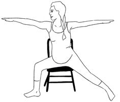 Add+a+chair+to+your+prenatal+yoga! +As+your+belly+grows+bigger+during+your+pregnancy+you+may+find+the+number+of+postures+you+can+do+with+ease+are+limited.+That's+where+props+can+be+a+big+help+allowing+you+to+comfortably+continue+to+practice+many+active+and+passive+postures+right+up+until+the+day+you+give+birth. +There+are+so+many+benefits...