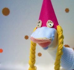 Princess sock puppet.