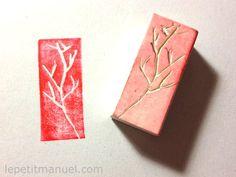 Fabriquer des tampons à partir d'une simple gomme @ Le Petit Manuel
