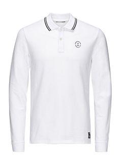 CORE by JACK & JONES - Langärmeliges Polo-Hemd von CORE - Slim fit - Standard-Polokragen - Schlitze zu den Seiten - Mit kleinen Markenlogo-Details - Klassische Baumwollpikee-Qualität - Das Modell trägt Größe L und ist 187 cm groß 95% Baumwolle, 5% Elasthan...