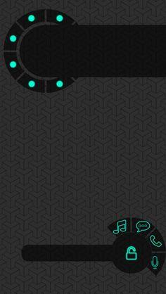 ↑↑TAP AND GET THE FREE APP! Lockscreens Circle Black Grey Art Creative HD iPhone 5 Lock Screen