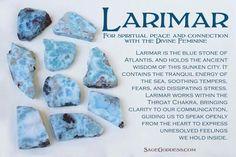 Larimar, from Sage Goddess on facebook