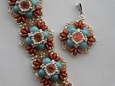 Beaded Pendant & Bracelet Tutorial Beadweaving Pattern