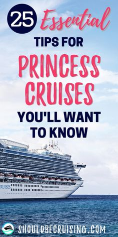 Are you taking a Princess cruise? We have 25 top Princess cruise tips that you'll need to know before cruising on a Princess ship. Packing List For Cruise, Cruise Tips, Cruise Travel, Cruise Vacation, Shopping Travel, Beach Vacations, Italy Vacation, Cruise First Time