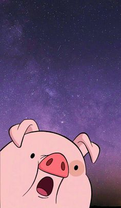 Wallpapers chido #cerditoChido Pig Wallpaper, Iphone Wallpaper Vsco, Funny Phone Wallpaper, Wallpaper Iphone Disney, Cute Wallpaper Backgrounds, Desenhos Gravity Falls, We Bare Bears Wallpapers, Pig Art, Cartoon Background