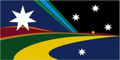 A design submitted by Luke Hambly Alternate Worlds, Alternate History, Flag Ideas, Australian Flags, Flag Design, Pure Products, Proposal, Charts, Maps