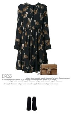 """""""Plus Size Dress"""" by anja-173 ❤ liked on Polyvore featuring Dolce&Gabbana, Gucci and dress"""
