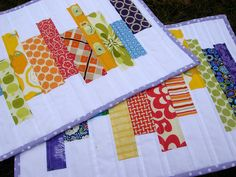 placemat appears quilted
