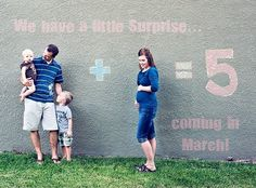 Cute Pregnancy Announcements! Love this one! #baby #announcement #maternity