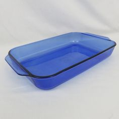 "Cobalt Blue Pyrex Rectangular Cake or Lasagna Dish - 233 3 Quart 13""x 9""x 2"" Baking Pan with Tab Handles by CheekyBirdy on Etsy"