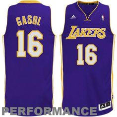 adidas Pau Gasol Los Angeles Lakers Revolution 30 Swingman Road Jersey -  Purple Jersey Adidas 877f77194