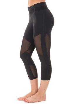 Lime Lush Boutique - Black Active Capri Leggings with Mesh Panel Detail, $36.99 (https://www.limelush.com/black-active-capri-leggings-with-mesh-panel-detail/)