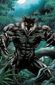 Grimm Fairy Tales Comics-Werewolf by GiuseppeDiRosso on DeviantArt Werewolf Vs Vampire, Werewolf Hunter, Werewolf Art, Furry Wolf, Furry Art, Fantasy Creatures, Mythical Creatures, Grimm Fairy Tales Comic, Beast