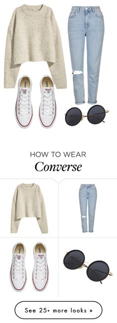 """Untitled #902"" by zeniboo on Polyvore featuring Topshop and Converse"