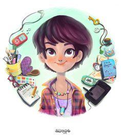 Draw myself by Dung Ho, via Behance