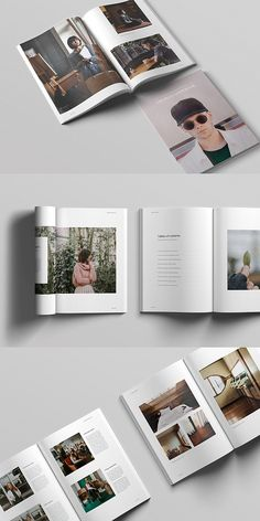 18 Trendy Ideas For Design Magazine Fashion Photography Corporate Brochure Design, Brochure Layout, Brochure Template, Luxury Brochure, Design Café, Book Design Layout, Photo Book Design, Magazine Design, Magazine Layouts