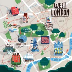 Steve McCarthy - Map of West London