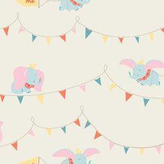 Disney Dumbo Flags Cotton Fabric