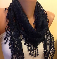 A personal favorite from my Etsy shop https://www.etsy.com/listing/206982797/very-dark-blue-scarflace-scarf
