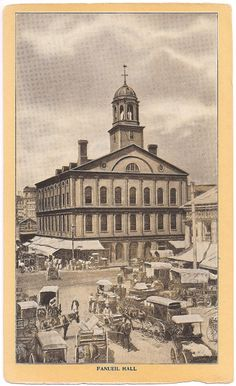 Fanueil Hall Boston MA Early 1900's Singer Sewing trading card