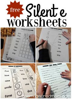Get ten free i-e worksheets for beginning readers and spellers!