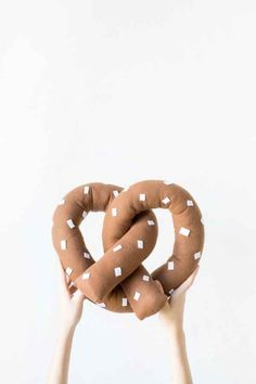 Stitch up a giant pretzel pillow for your couch.