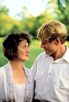 Meryl Streep, Robert Redford on the set of 'Out of Africa' (1985)