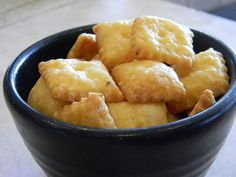 Homemade cheese-its