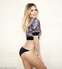 Heidi Klum, 43, flaunts her fit figure for Shape cover and reveals she doesn't work out every day   Daily Mail Online