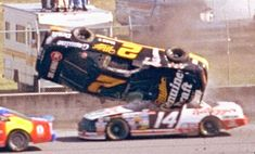 Rusty Wallace went airborne in his Miller Genuine Draft Pontiac during the Daytona 500 International Race of Champions, February The car was hit, wh. Nascar Crash, Nascar Racing, Auto Racing, Nascar Wrecks, Rusty Wallace, Mike Wallace, Daytona International Speedway, My Champion, Daytona 500