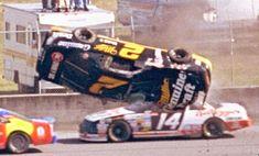 Rusty 'Rubberhead' Wallace flips & rolls down the backstretch during the 1993 Daytona 500.