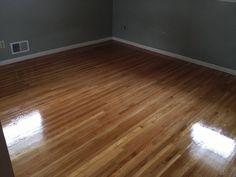 White Oak Hardwood Floors After Refinish in Richfield MN