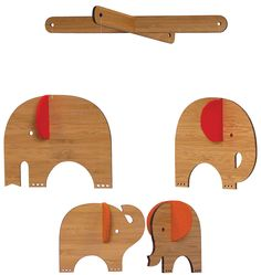 Petit Collage Bamboo Mobile Deluxe - Red Elephant from diapers.com. Very cool mobile for over the crib! #DiaperscomNursery