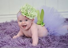 Claire Lavender Lime Tutu and Headband Set….We use only the softest tulle when making our skirts in newborn size, perfect for your newborn