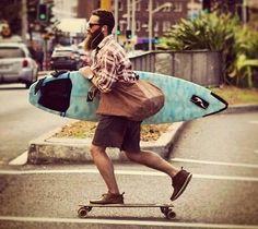 surf, longboard e muito, mas muito estilo! Girls Skate, E Skate, Skate Shop, Men's Underwear, Surf Mode, Skate Longboard, Coast Dress, Longboarding, Wakeboarding