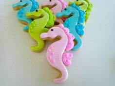 NEW SIZE- Seahorse and Starfish Mini Sugar Cookies- 2 dozen