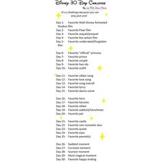 Disney 30 Day Challenge ❤ liked on Polyvore featuring challenges and surveys