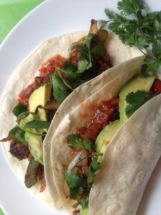 Tempeh Tacos, sub corn tortillas