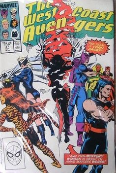 Marvel Comic - The West Coast Avengers  No 37 October 1988
