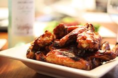 Bourbon Cola Chicken Wings