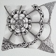 Dyon | official Zentangle tangle | Day 14 by Cris @ TangledUpInArt, via Flickr