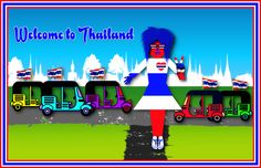 Welcome to Thailand Poster More info about Thailand here: http://islandinfokohsamui.com