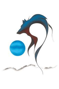 Isaac Bignell Canadian First Nation Artis Prints Wolf Spirit I