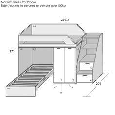 Image result for plans l shaped bunk bed plans
